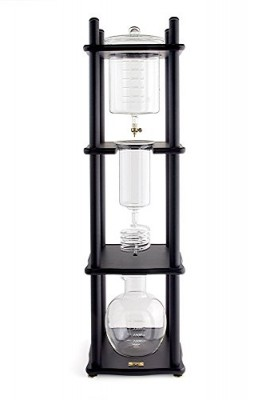 Yama-Glass-6-8-Cup-Cold-Drip-Maker-Straight-Black-Wood-0