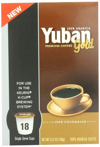 Coffee Consumers Yuban Colombian Coffee K Cup Packs 18