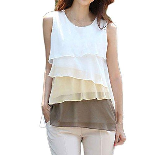 Zcargel-Womens-Plain-Lady-Chiffon-Tops-Blouse-Vest-T-Shirt-Tag-SUS-0-TieredBrown-0