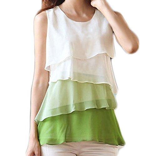 Zcargel-Womens-Plain-Lady-Chiffon-Tops-Blouse-Vest-T-Shirt-Tag-SUS-0-TieredGreen-0