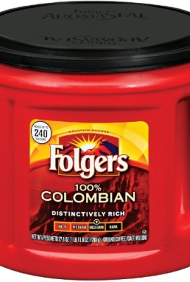 Folgers-100-Colombian-Coffee-278-Ounce-Pack-of-6-0