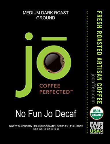 NO-FUN-JO-DECAF-12-oz-Organic-Decaf-Ground-Coffee-Swiss-Water-Process-Fair-Trade-Certified-Medium-Dark-Roast-100-Arabica-Coffee-USDA-Certified-Organic-NON-GMO-0-1