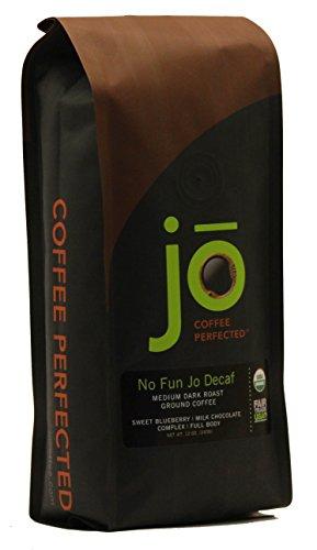NO-FUN-JO-DECAF-12-oz-Organic-Decaf-Ground-Coffee-Swiss-Water-Process-Fair-Trade-Certified-Medium-Dark-Roast-100-Arabica-Coffee-USDA-Certified-Organic-NON-GMO-0